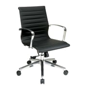 OSP Furniture Mid Back Eco Leather Conference Chair; Black