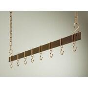 Rogar Gourmet Hanging Bar Pot Rack; 54'' Hammered Copper/Copper