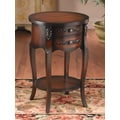 AA Importing End Table; Dark Brown