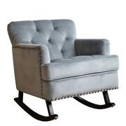 Abbyson Living Bluestone Rocking Arm Chair; Teal Blue