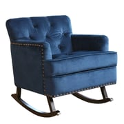 Abbyson Living Bluestone Rocking Arm Chair; Sapphire Blue