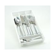 Galleyware  Company 30 Piece Anchor Plus Storage Tray Flatware Set; White