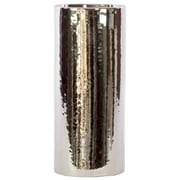 Urban Trends Ceramic Vase LG Chrome Silver; Large