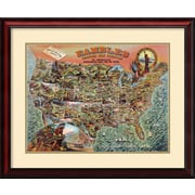 Amanti Art 'Rambles through our Country' by Vintage Reproduction Framed Art Print