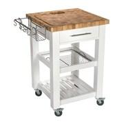 Chris & Chris Pro Chef Kitchen Cart with Butcher Block Top