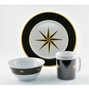 Galleyware  Company Decorated Black Compass 12 Piece Dinnerware Gift Set