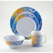 Galleyware  Company Decorated Ocean Breeze Melamine 24 Piece Dinnerware Set