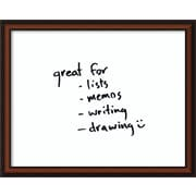Amanti Art Bella Noce Dry-Erase Wall Mounted Whiteboard, 2' x 3'