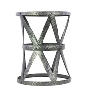 Urban Trends Metal Stool Compass in Gunmetal Gray
