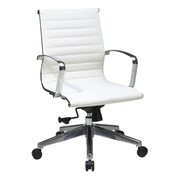 OSP Furniture Mid Back Eco Leather Conference Chair; White