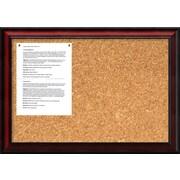 Amanti Art Rubino Wall Mounted Bulletin Board, 1' x 2'
