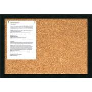 Amanti Art Mezzanotte Wall Mounted Bulletin Board, 1' x 2'