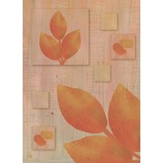 Green Leaf Art Leaves Of Fall 1 Painting Print on Wrapped Canvas