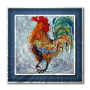 All My Walls 'Fancy Rooster' by Karen Tarlton Painting Print Plaque