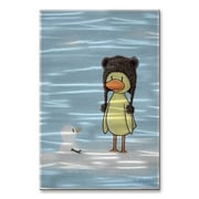 All My Walls 'Duck Meets Snowman' by All Artsy Graphic Art Plaque