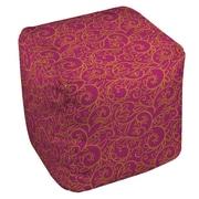 Thumbprintz Funky Florals Swirl Pattern Ottoman; Pink