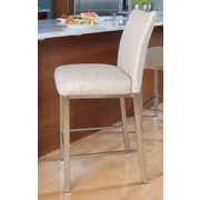 Trica Lorenzo 29.75'' Bar Stool with Cushion; Leather - Barolo Cherry