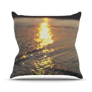 KESS InHouse Cute as a Button Outdoor Throw Pillow; 26'' H x 26'' W x 4'' D