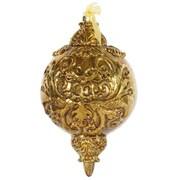 Vickerman Antique Gold Ball Finial Ornament