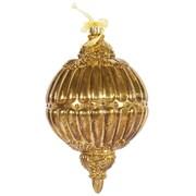 Vickerman Antique Gold Ball Drop Ornament