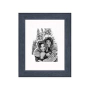 Frames By Mail 11'' x 14'' Rustic Wire Brush Frame in Black