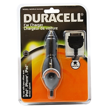 Duracell® - Chargeur de voiture Apple 30 PIN pour iPod/iPhone
