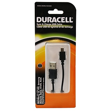 Duracell® - Câble USB Micro SYNC & Charge