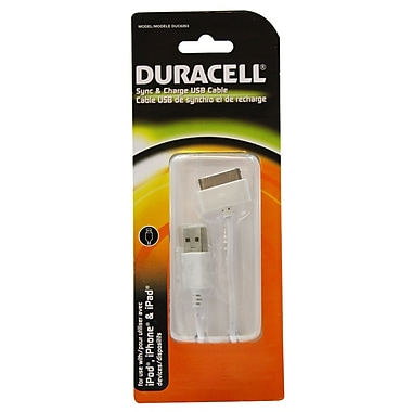 Duracell® Apple 30 PIN USB Sync & Charge Cable