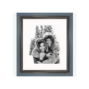 Frames By Mail 8'' x 10'' Rustic Wire Brush Frame in Grey/Blue