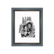 Frames By Mail 11'' x 14'' Rustic Wire Brush Frame in Grey/Blue