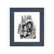 Frames By Mail 8'' x 10'' Rustic Wire Brush Frame in Black