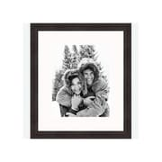Frames By Mail 8'' x 10'' Traditional Thin Frame in Antique Mahogany