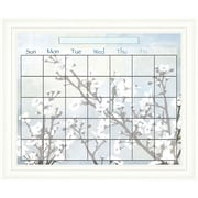 PTM Images Cherry Blossom Wall Mounted Calendar/Planner Glass Board, 2' x 2'