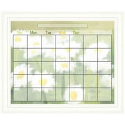 PTM Images Daisy Wall Mounted Calendar/Planner Glass Board, 2' x 2'