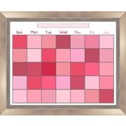 PTM Images Cassie Wall Mounted Calendar/Planner Glass Board, 2' x 2'
