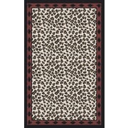 Surya Nantes Ivory/Black Animal Print Area Rug; 8' x 11'