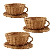WaldImports Willow Cup and Saucer (Set of 3)