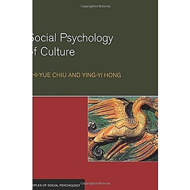 Social Psychology of Culture (Principles of Social Psychology), New Book (9781841690865)