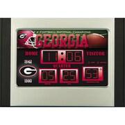 Team Sports America NCAA Scoreboard Desk Clock; Georgia