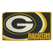 Team Sports America NFL Bay Packers Welcome Graphic Printed Doormat