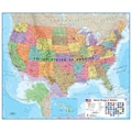 Waypoint Geographic USA 1:4.25 Laminated Wall Map