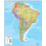 Waypoint Geographic South America 1:7 Laminated Wall Map