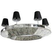 A&B Home 5-Light Shaded Chandelier; 14.5'' H x 40.8'' W x 32.8'' D
