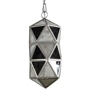 A&B Home 1 Light Mini Cylinder Pendant; 19'' H x 8'' W x 8'' D