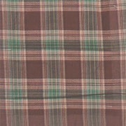 Patch Magic Brown and Green Plaid Bed Skirt / Dust Ruffle; Full