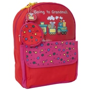 Mercury Luggage Going to Grandma's Children's Backpack; Red