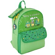 Mercury Luggage Going to Grandma's Children's Backpack; Lime Green