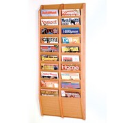 Wooden Mallet 20 Pocket Wall Mount Magazine Rack; Light Oak