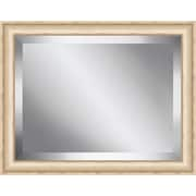 Ashton Wall D cor LLC Bisque Framed Beveled Plate Glass Mirror