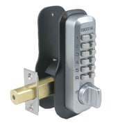 Lockey USA Mechanical Keyless Deadbolt EZ Mount Plate Lock; Bright Chrome